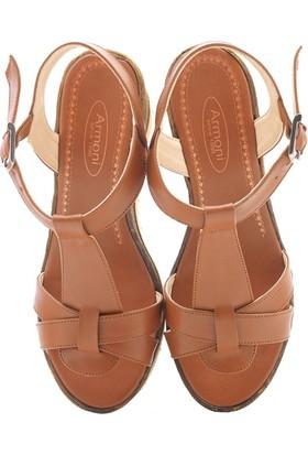 Lady Sweet Taba Kadın Dolgu Topuk Sandalet