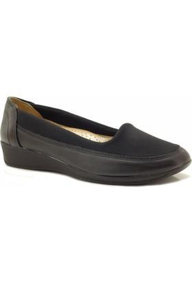 Siber 121210 Siyah Streç Ortopedik Kadın Ayakkabı