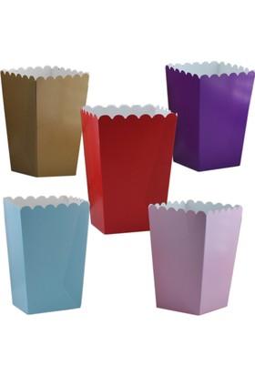 Tahtakale Toptancısı Popcorn Kutusu Karton Düz Renkli (Mısır Cips Kutusu) (10 Adet)