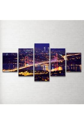 Plustablo İstanbul Manzara 5 Parça Kanvas Tablo