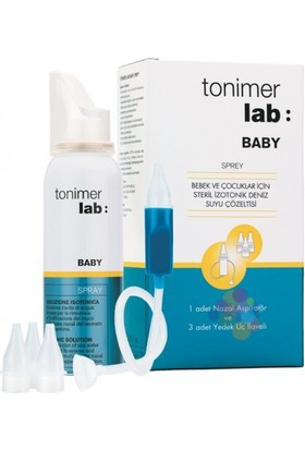 Tonimer Lab Baby Sprey 100 ml - Aspiratör + 3 Adet Yedek Uç