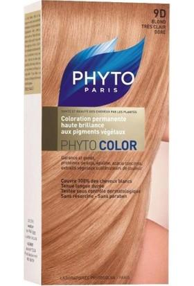 PHYTO COLOR 9D - Kit Açık Sarı Dore Saç Boyası