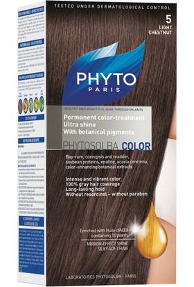 PHYTO COLOR 5 - Kit Açık Kestane Saç Boyası