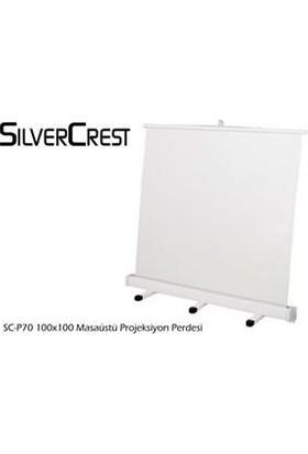 Silvercrest 100x100cm Masaüstü Portatif Projeksiyon Perdesi