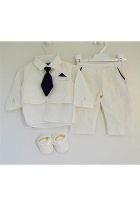 Pugi Baby 2011 Kravatlı Erkek Bebek Mevlüt Takımı