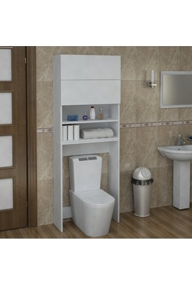 Sanal Mobilya Terni Klozet Çamaşır Makinesi Banyo Dolabı Takımı