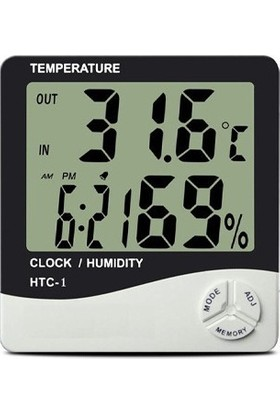 Tt-Technıc Htc-1 Saatli Nem Ölçer Ve Termometre