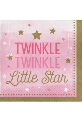 Alins One Little Star Partisi 1 Yaş Peçete 33X33 Cm 16 Adet ( Pembe )