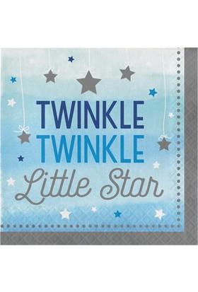 Alins One Little Star Partisi 1 Yaş Peçete 33X33 Cm 16 Adet ( Mavi )