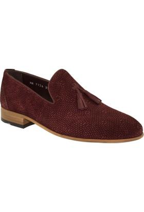 Fosco 7126 Mokasen Klasik Bordo Erkek Ayakkabı