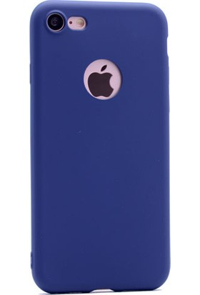 Kvy Apple iPhone 7 Kılıf Ultra İnce Mat Silikon +Cam