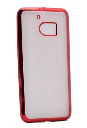 Kvy HTC 10 Kılıf Renkli Kenarlı Silikon +Cam