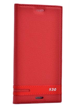 Kvy HTC Desire 530 Kılıf Gizli Mıknatıslı Kapaklı +Cam