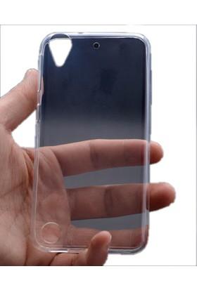 Kvy HTC Desire 530 Kılıf Ultra İnce Silikon +Cam