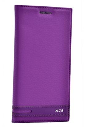 Kvy HTC Desire 825 Kılıf Gizli Mıknatıslı Kapaklı +Cam