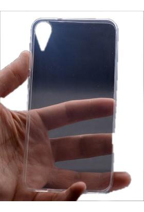Kvy HTC Desire 825 Kılıf Ultra İnce Silikon +Cam