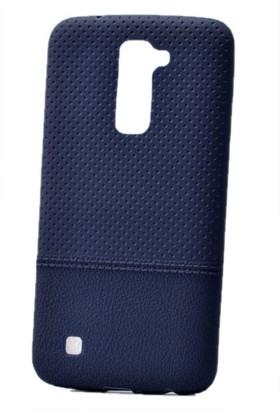 Kvy LG K10 Kılıf Nokta Desenli Silikon +Cam