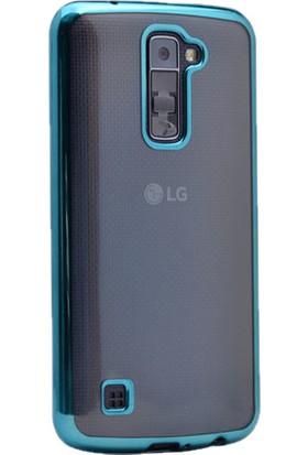 Kvy LG K10 Kılıf Renkli Kenarlı Silikon +Cam