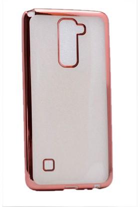 Kvy LG Stylus 2 Kılıf Renkli Kenarlı Silikon +Cam