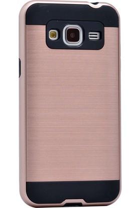 Kvy Samsung Galaxy J1 2016 Kılıf Ultra Korumalı Silikon +Cam