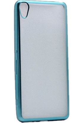 Kvy Sony Xperia XA Kılıf Renkli Kenarlı Silikon