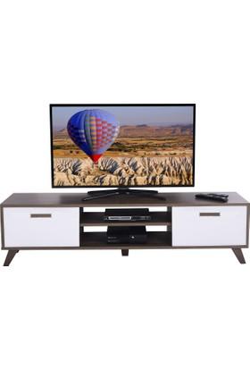 Ankara Mobilya Deka Tv Sehpası Ceviz Beyaz -R