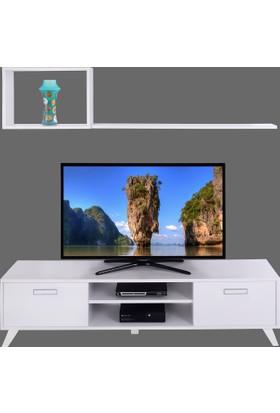 Ankara Mobilya Deka Tv Sehpası Beyaz -R