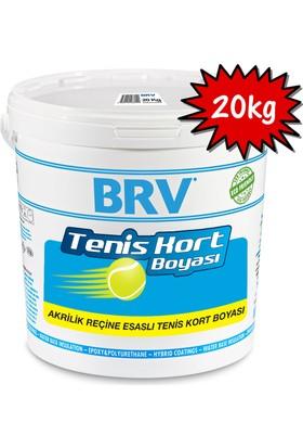 Brv Tenis Kort Boyası - Akrilik Tenis Kort Boyası 20Kg - Mavi