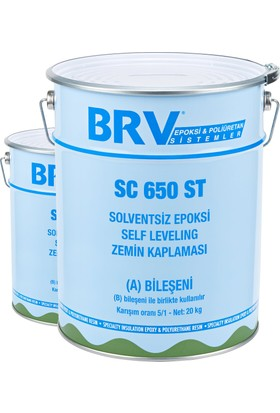 Brv Sc 650 St - Solventsiz Epoksi Self Leveling Zemin Kaplaması 6Kg