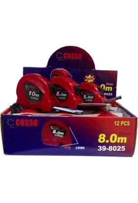 Cosso 8M X 25Mm Şerit Metre 12Li Paket