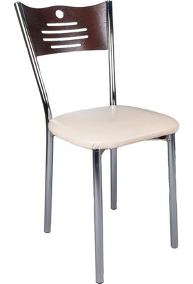 Evistro Ahşap Mutfak Ve Balkon Sandalyesi 4 Adet Venge