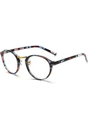 Fevale Retro Çiçek Desenli Gözlük
