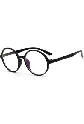 Fevale Siyah Retro Yuvarlak Gözlük