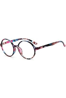 Fevale Ciçek Desenli Yuvarlak Gözlük