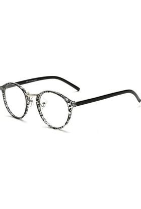 Fevale Siyah Beyaz Desenli Gözlük