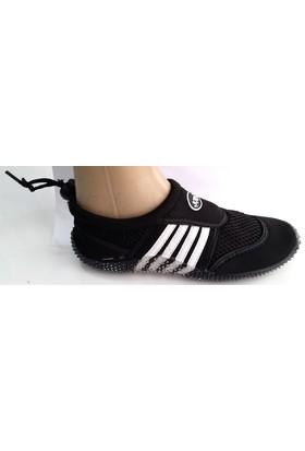 Ahs Çocuk Çizgili Siyah - Beyaz Deniz Ayakkabısı
