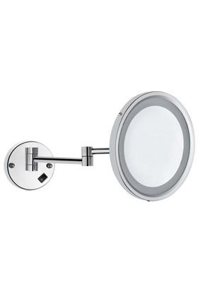 Bauboss LED Işıklı Mafsallı Makyaj ve Tıraş Aynası (Pirinç)