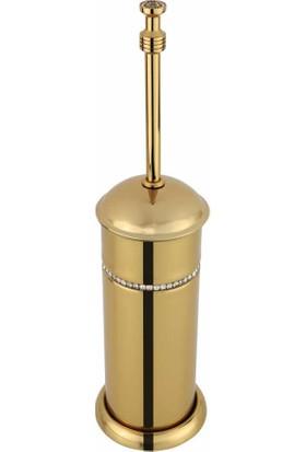 Bauboss Altima Altın Taşlı Tuvalet Fırçası Yerden
