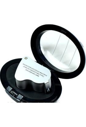 Enhavalı Kuyumculara Özel Kutulu Çıft Lenslı Işıklı Lup-30X22 No:9889