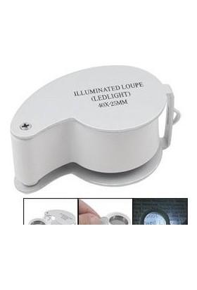 Enhavalı Full Çelik Kaplı Led Işıklı Profesyonel Büyüteç-40X25 Mg21011