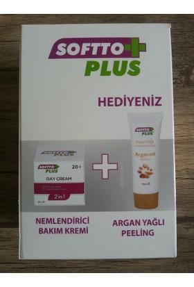 Softto Plus Nemlendirci Bakım Kremi + Peeling