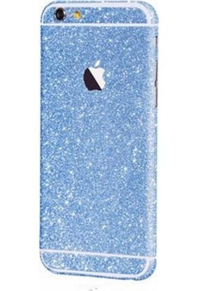Marca Teknoloji Apple iPhone 6s Mavi Renk Simli Koruyucu Kaplama