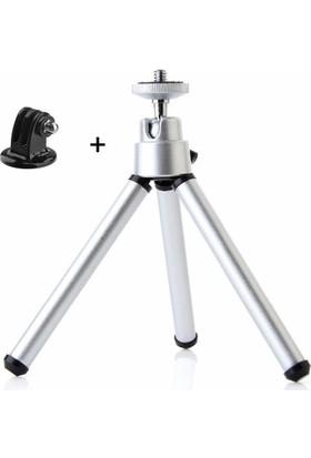 Aksiyon Kamera Mini Tripod ve Tripod Aparatı