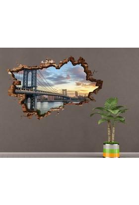 3D Art Köprü – 3D Sticker 135x90 cm