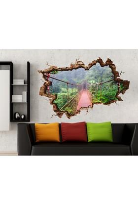 3D Art Asma Köprü 2 – 3D Sticker 70x45 cm
