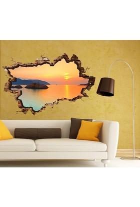 3D Art Gün Batımı Sahil 2 – 3D Sticker 70x45 cm