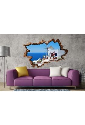 3D Art Santorini – 3D Sticker 70x45 cm