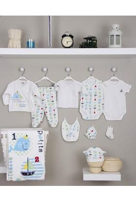İmaj Erkek Bebek Hastane Çıkışı Yeni Doğan Seti Antialerjik 10 Lu 140 Yunuslu İmaj Bebe