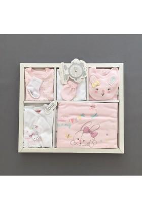 İmaj Kız Bebek Hastane Çıkışı Yeni Doğan Seti Antialerjik 10 Lu 158 Tavşanlı Pembe
