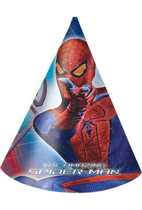 Partypark Örümcek Adam Parti Şapkası (8 Ad)